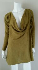 EILEEN FISHER Chartreuse Green Baby Alpaca Pullover Sweater sz XS *MINT* $248