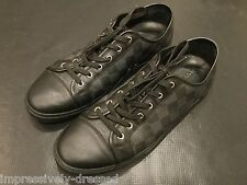 LOUIS VUITTON BLACK MONOGRAM DAMIER SNEAKERS SHOES LV SIZE 9 AND US 10