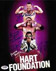 Jim Neidhart Bret & Jimmy Hart Foundation Signed 8x10 Photo PSA/DNA COA WWE Auto