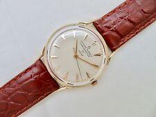 Mens Vintage 14K SOLID GOLD ULYSSE NARDIN CHRONOMETER Wristwatch