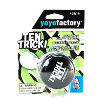 Yo-yo TenTrick by YoyoFactory - Black (modern spinning yoyo, beginner friendly)