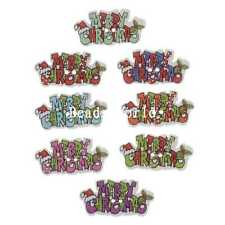 100 Pcs Mearry Christmas Wood Sewing Decorative Buttons Scrapbooking 35x18mm