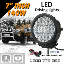 """LED Driving Lights 2x 140w 7"""" Heavy Duty CREE 12/24v AAA+ 2015 """"The Best!"""""""