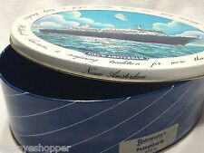 Nieuw Amsterdam Holland American Collector Tin Oval Embossed Ship Travel Advert