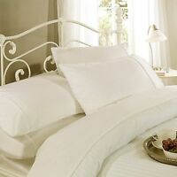 Cream 100% Cotton 300TC Self Striped Bedding Sets Available In All Sizes