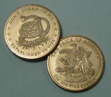 DON'T TREAD ON ME THE PRICE OF LIBERTY 1 oz .999 FINE COPPER ROUND MADE IN USA