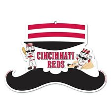 CINCINNATI REDS GET YOUR STACHE ON ICONIC WOOD SIGN BRAND NEW WINCRAFT