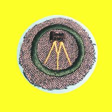 PHOTOGRAPHY 1947 ONLY Girl Scout Intermed. Badge Tripod Camera White Back RARE