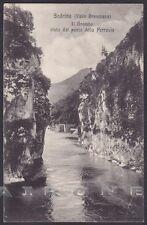 BERGAMO SEDRINA 02 Fiume BREMBO PONTE FERROVIA Cartolina viaggiata (1912 ?)