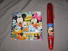 Disney Mickey Minnie Mouse Stationary Set Pencils Spiral Notebook Sharpener NEW!
