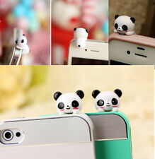 1xMobile Phone Panda Type Anti-Dust Plug Earphone Dustproof Cover Stopper Cap GU