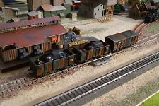 ROCO, WWII MILITARY CAMO WAGONS, SCALE HO