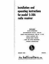 Hallicrafters S-38A Radio Operation & Service Manuals Combined With Color Photo