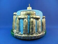 Stonehenge England Christmas Ornament Glass Blown Tree Monument Travel  011164