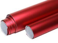 Rouge Chrome/mat Metallique 1000cm x 152cm Sans bulles Conduits d'air X302
