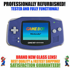 *NEW GLASS SCREEN* Nintendo Game Boy Advance GBA Indigo System