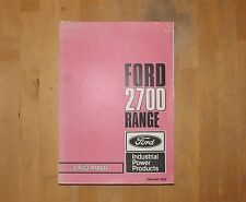 Ford 2700 Industrial engine Service manual. Original.