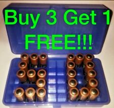 1 AA Battery Box BUY 3 GET 1!! Plastic Storage Bin HOLDS 50 BATTERIES CASE BLUE