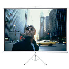 "New 120"" 4:3 Tripod Compact Portable Projector Projection Screen Matte White"