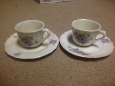 Antique Mini Tea Cups & Plate (2 Cups 2 Plates) Japanese Marking