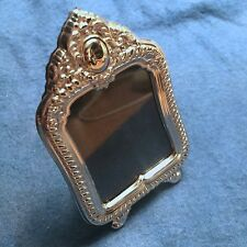 """Miniature Sterling Silver 925 Picture Frame - """"Cleopatra"""" - Rectangular Ornate"""