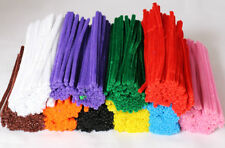 500 Chenille Craft Stems Pipe Cleaners 10 Colours  15cm x 4mm FREE SHIPPING 4056