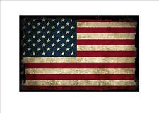 USA American aged flag metal sign vintage style American flag sign