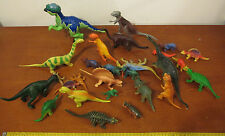 Lot of 27 various plastic dinosaurs ranging from 1980s to 2000s
