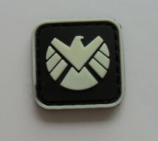 THE AVENGERS movie S.H.I.E.L.D logo PVC 3D Rubber Mini  Velcro PATCH   SJ 280