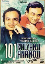 101 Kalyanji Anandji Hits - 101 Bollywood Songs DVD, 101 Songs In 3 DVD Set