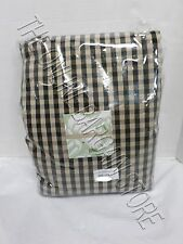 Ballard Designs Check Gingham Drapes Panels Curtains with Valance Black 54x95""