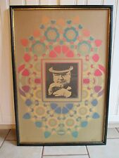 "1967  Peter Max Poster Corp  - W.C. Fields Cameo Litho Print - 24"" x 36"""