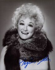 PHYLLIS DILLER HAND SIGNED 8x10 PHOTO+COA     GREAT POSE     AWESOME COMEDIAN