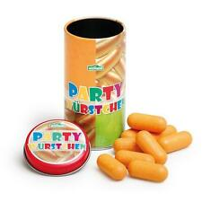 Wooden mini party sausages in tin by Erzi toy pretend play shop food kitchen