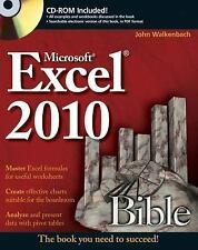 Excel 2010 Bible, Walkenbach, John, New Book