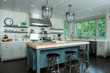 6ft Custom Kitchen Island with solid wood butcher block- HOU93-Smart Tray