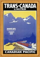 Trans Canada Limited Canadian pacific schlafwagenzug montagne affiches a3 271