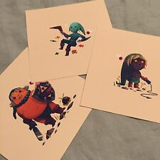 Olly Moss Legend of Zelda Majoras Mask 5x5 Limited Edition Prints Numbered Mondo