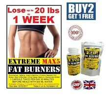 STRONGEST WEIGHT LOSS PILLS NO1 FAT BURNERS STRONG DIET SLIMMING TABLETS BID.150