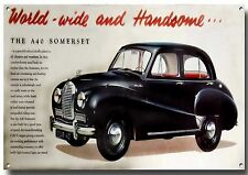 AUSTIN A40 SOMERSET METAL ADVERTISING SIGN,BRITISH CLASSIC CARS.