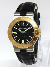 Bvlgari Ladies Diagono Steel 18k Yellow Gold Watch LC 29 SG Bulgari Box/Papers