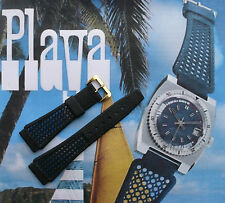 20mm Black Golay 'PLAYA' dive band. Nice Tropic alternative watch strap. Swiss.