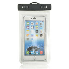 Waterproof Bag Underwater Pouch Dry Cover Case For iPhone Samsung Phone White