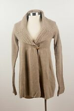 NWT $495 Vince Wheat Wool Shawl Collar Cardigan Empire Waist Sweater Size L