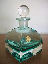 "Lead Crystal Perfume Bottle ""Coke Bottle Green"" Cristallo 24% Al Piombo Italy"