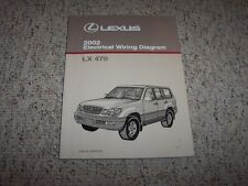 2002 Lexus LX470 LX 470 Factory Original Electrical Wiring Diagram Manual Book