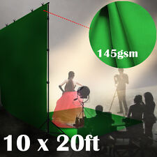 10 x 20ft Chromakey Green Screen Muslin Background Backdrop 145gsm heavy Fabric