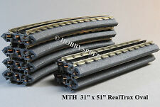 "MTH REALTRAX O GAUGE 31"" x 51"" OVAL 031 curves straights train track layout NEW"