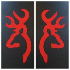 2 RED BROWNING DEER BUCK DOE DECAL STICKER 15 COLORS FORD DODGE CHEVY VW HONDA