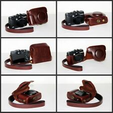 dark brown / coffee camera  leather case bag for Canon PowerShot G16 12.1 MP G15